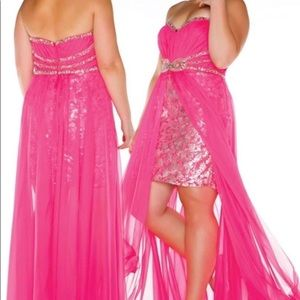 Mac Duggal 14W Pink High/Low Dress